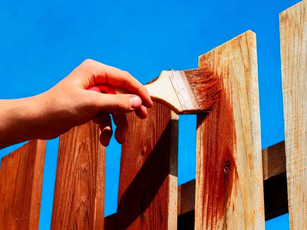 Финишная обработка деревянного забора