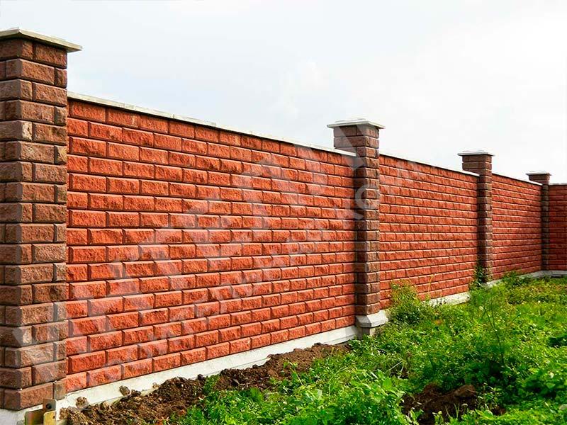 Кирпичный забор - пример работы готового забора номер 3