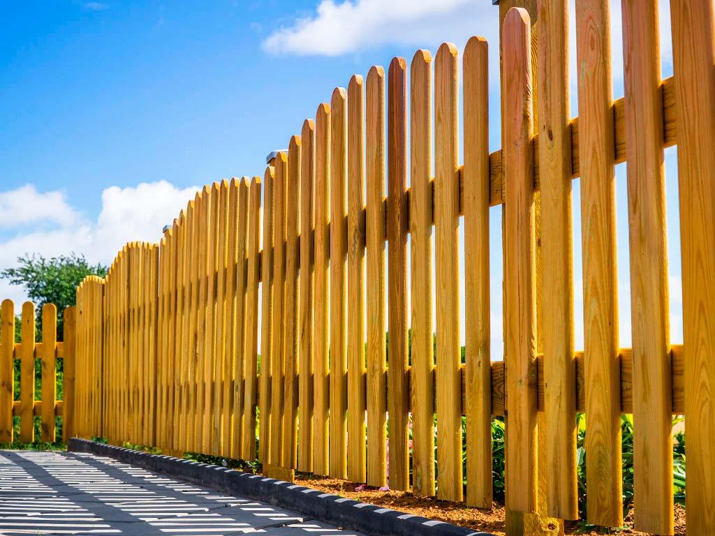 Забор из дерева Волна