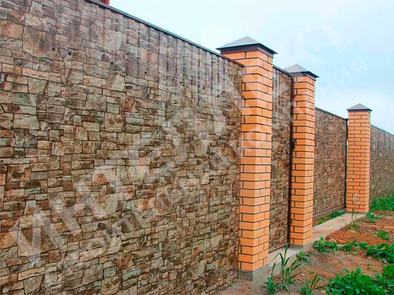 Забор из профлиста - пример работы готового забора номер 1