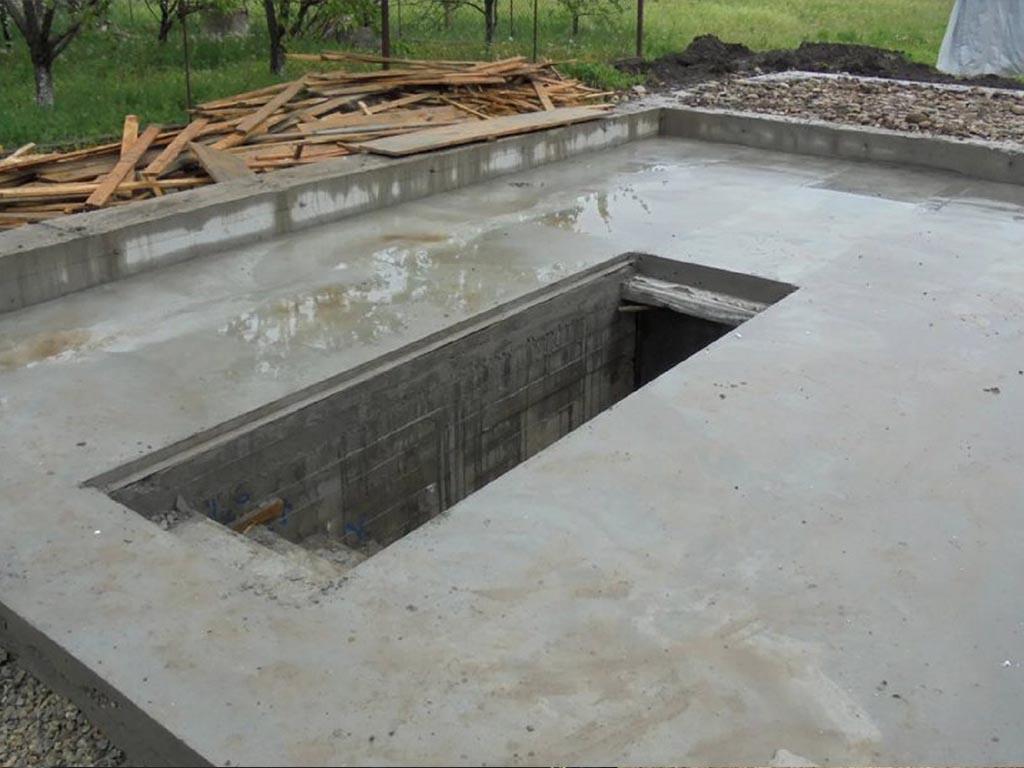 строительство фундаментов с погребом